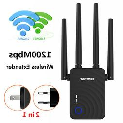 COMFAST 1200Mbps Mini WiFi Repeater 2.4GHz/5.8GHz Dual Band