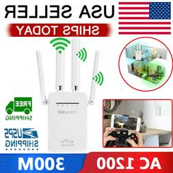 AC1200 WiFi Repeater Wireless 300M Extender Router Dual Boos