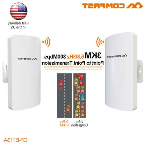2Pc 3km 300Mbps Outdoor CPE Bridge Wireless Access Points wi