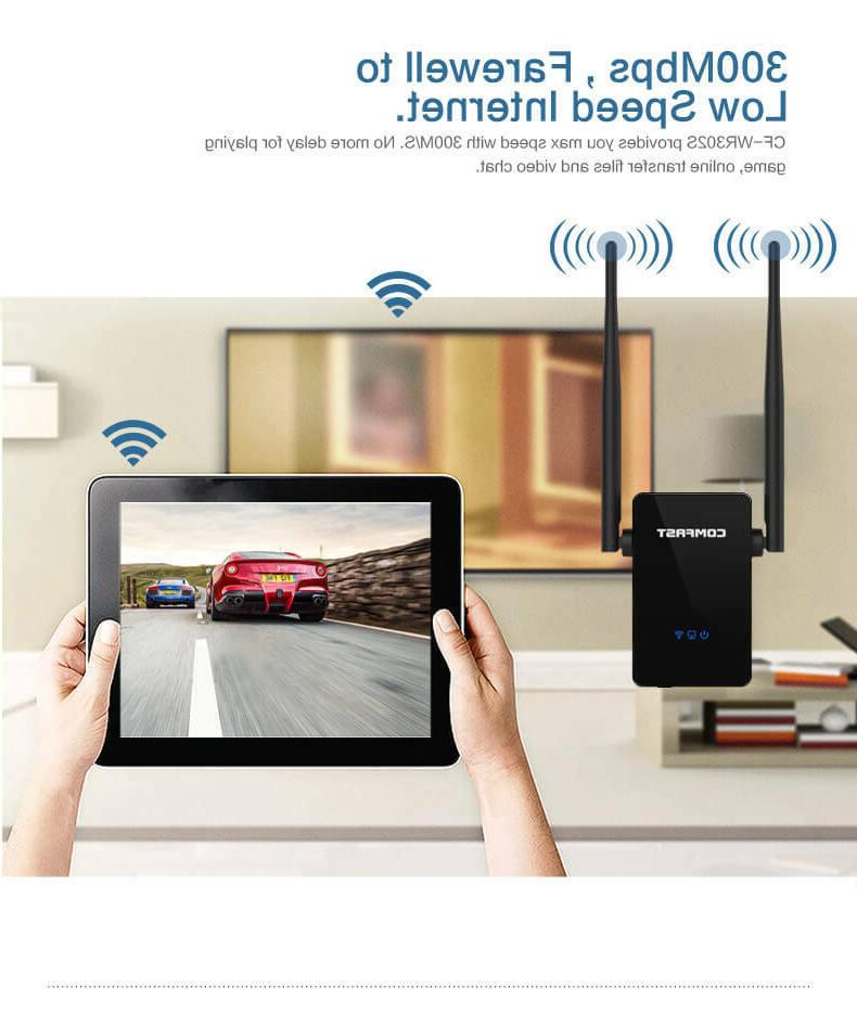 COMFAST 300Mbps Wifi Extender Booster WPS 802.11n/b/g