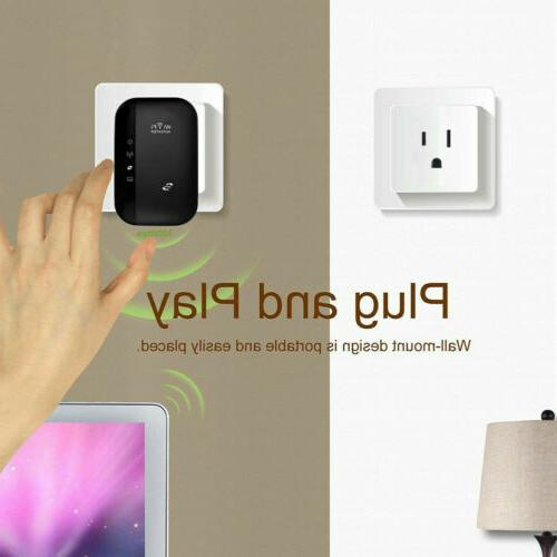 300Mbps Repeater Wireless Router Extender Signal Booster Amplifier