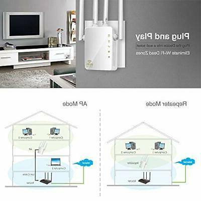 KuWFi WiFi 1200Mbps Repeater with Ports 2.4