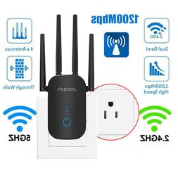 WiFi Range Extender Signal Booster 1200Mbps Wireless Network